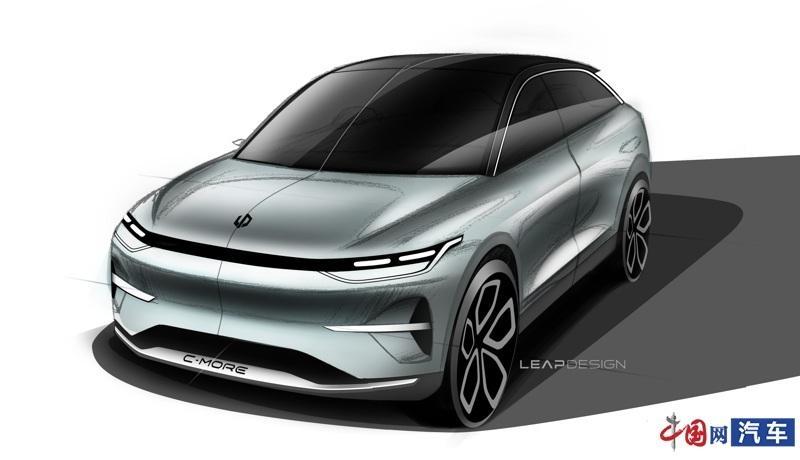 零跑汽车发布C平台概念车设计图 实车将亮相上海车展