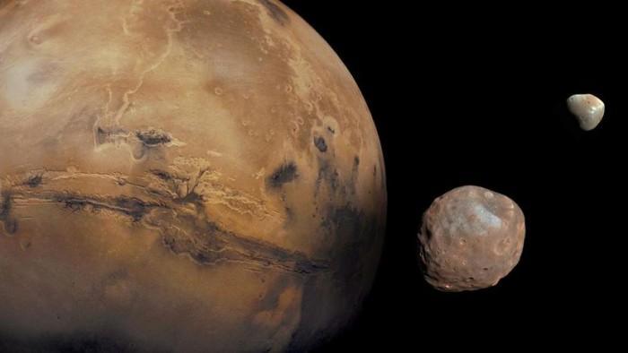 NASA好奇号探测器在火星日落之后拍摄到日食