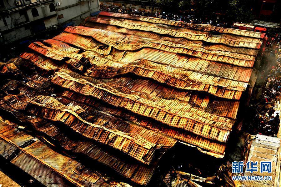 孟加拉国首都一市场发生火灾