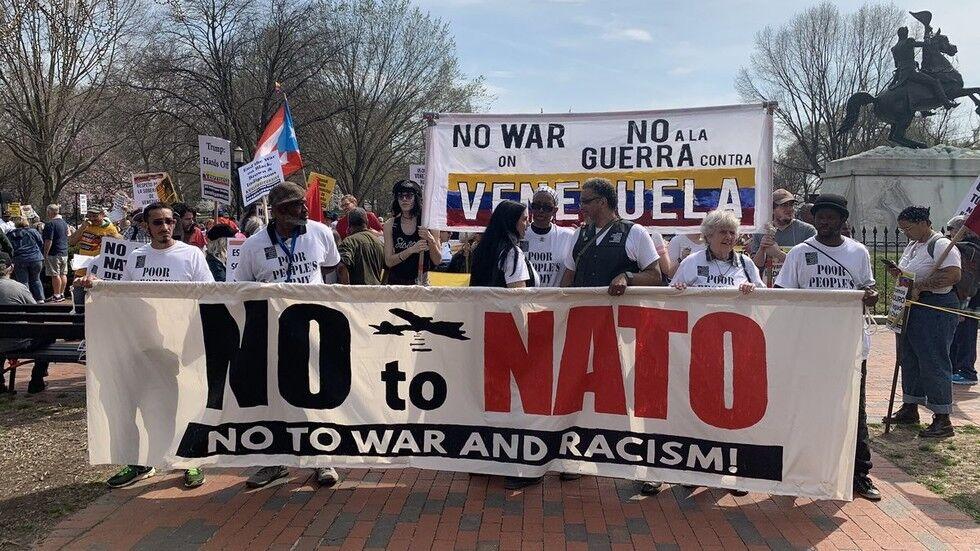 数百人走上华盛顿街头 反对北约、战争、种族主义,和侵略委内瑞拉