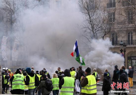 4000人参与巴黎第20轮示威 参与人数再度下降