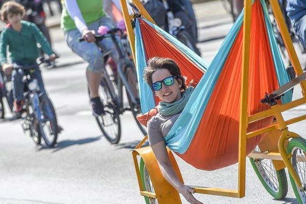 奥地利维也纳:自行车骑行嘉年华