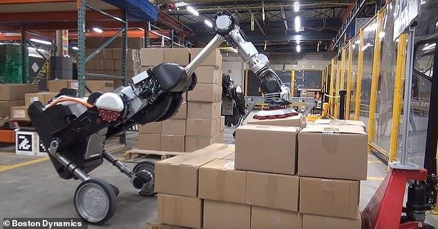 波士顿动力推类鸵鸟机器人 能装卸重30磅货物