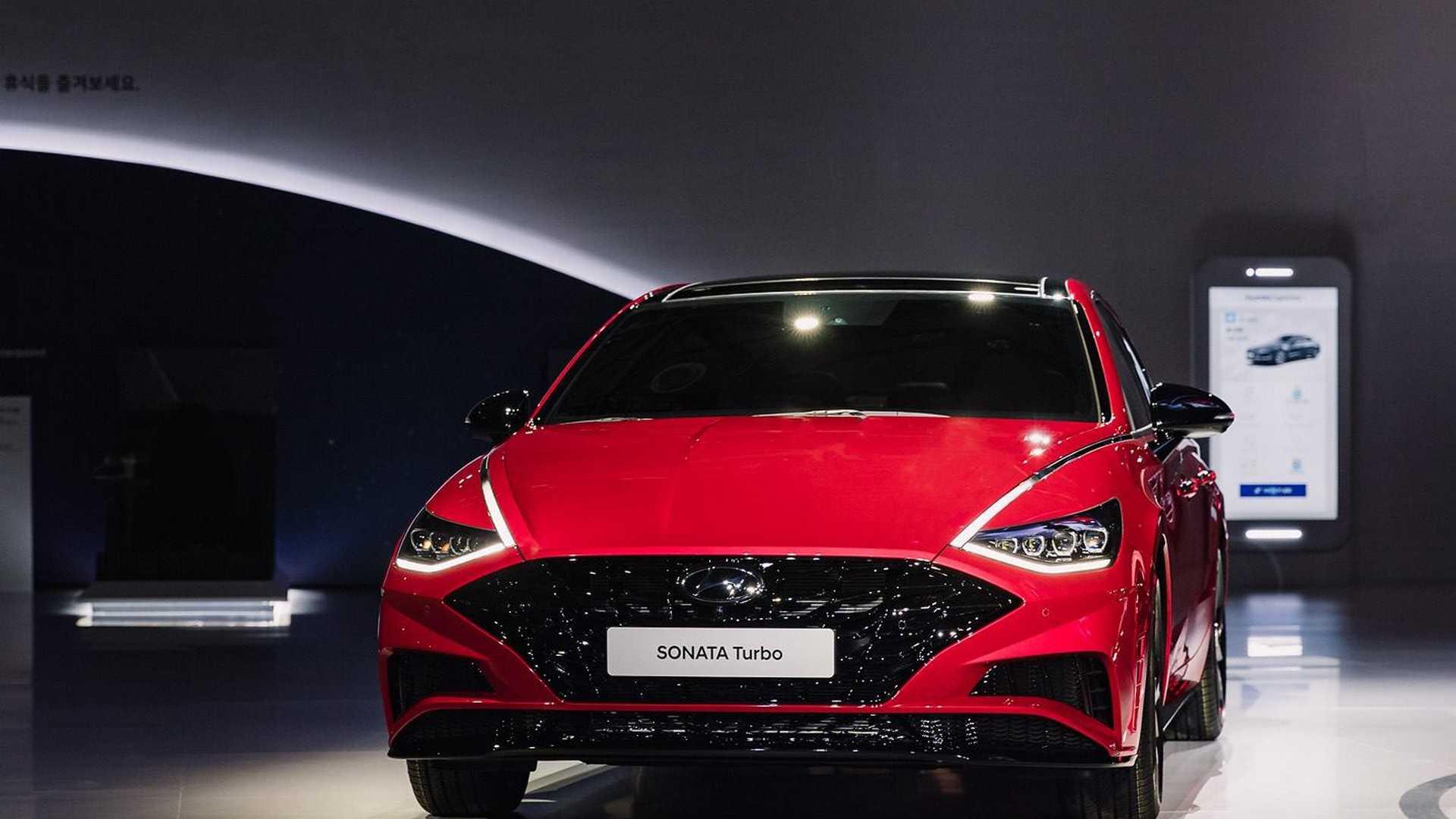2020款现代索纳塔Turbo亮相首尔车展