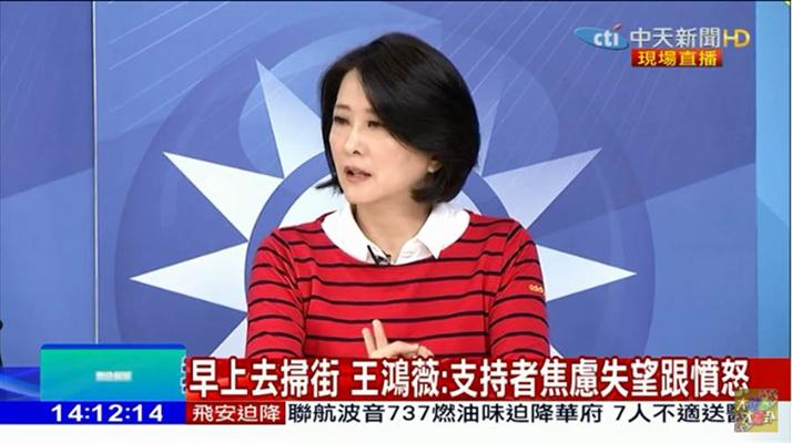 """""""韩流""""势不可挡 王鸿薇:国民党要做好危机管控"""