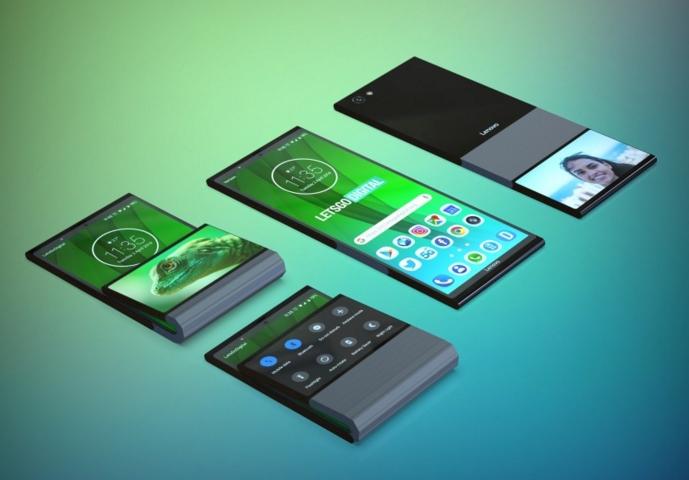 联想可折叠手机3D渲染效果图爆出