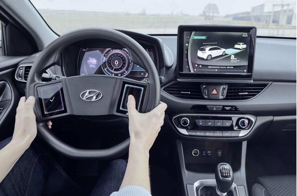 现代公布新一代汽车座舱原型:方向盘设计创新