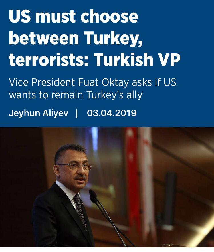 正面刚,土耳其副总统也给彭斯出了道选择题