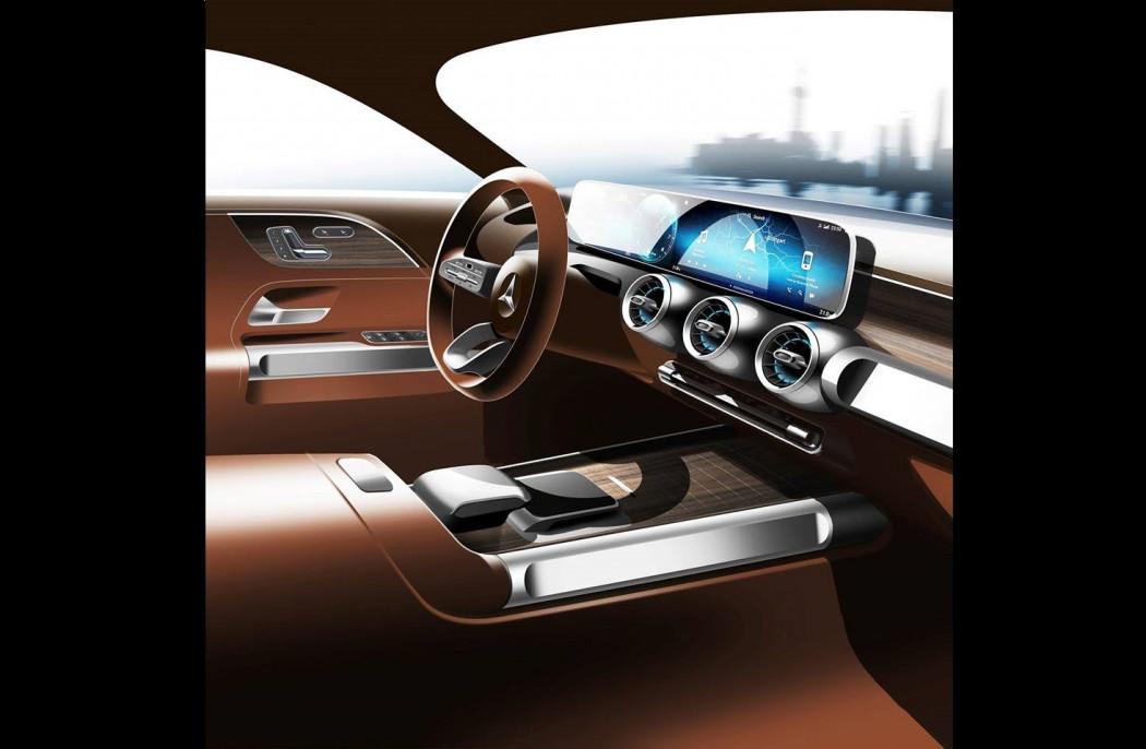 奔驰GLB概念车预告图发布 上海车展首发