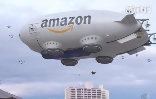 空中航母?亚马逊飞艇快递曝光 里面全是无人机!