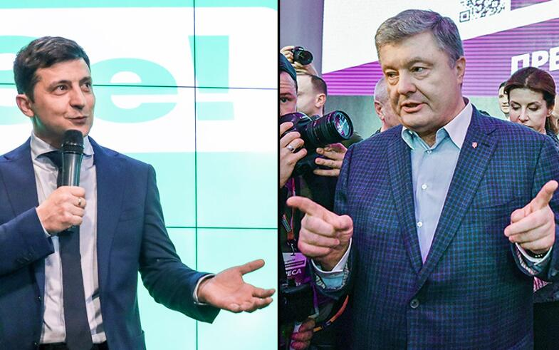 乌总统候选人:跟我辩论前先做毒品酒精测试,波罗申科:测就测!