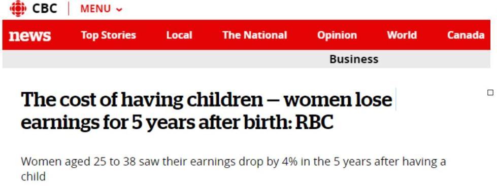 生子之后:妈妈们5年内工资连降,爸爸们却涨了?