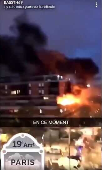 法国巴黎19区一栋建筑发生爆炸 伤亡不明