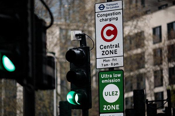 """英伦敦划定""""低排量""""区域  将向重污染车辆征""""罚款"""""""