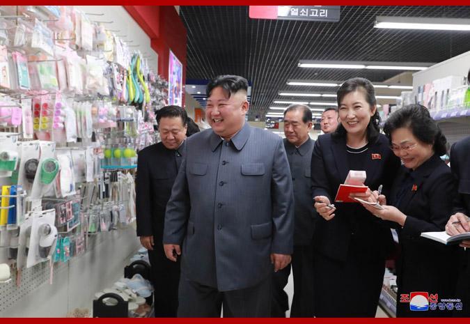 金正恩视察百货商店 称赞商品种类多质量高(图)