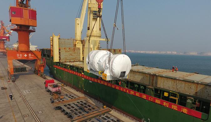 天津大沽口港区完成全球首台3D打印燃气轮机国内首次接卸