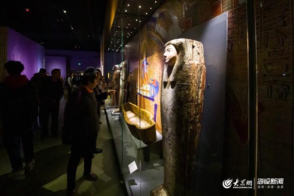 百件古埃及文物亮相山东博物馆 吸引游客1.5万人