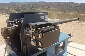 美国展示未来步兵战车主武器50毫米火炮原型炮