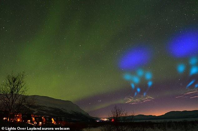 北极夜空发现神秘蓝光 外星人说法遭NASA否认