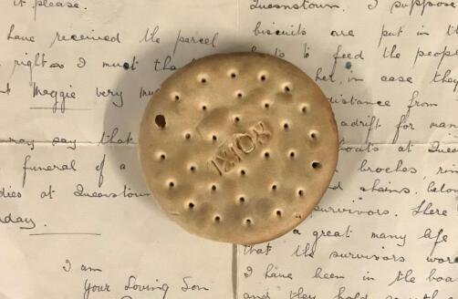 卢西塔尼亚号事件104年后 一块罕见饼干被拍卖
