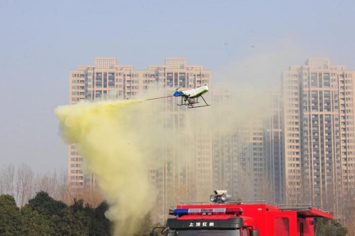 猎鹰100型无人机灭火救援装备研发成功
