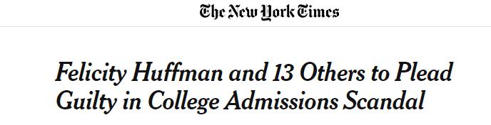 """想要""""走后门""""送孩子进名校?看看这位美国女星的下场"""