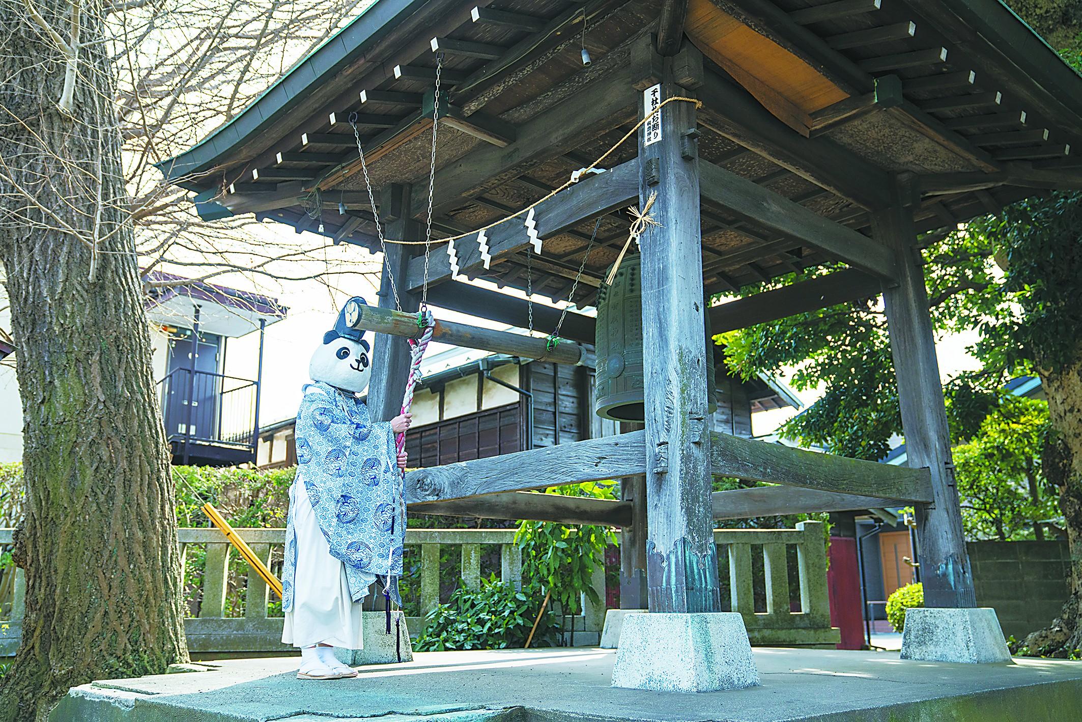 """神社的""""熊猫"""""""