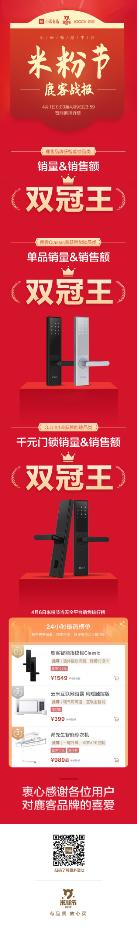 """小米9周年米粉节完美收官,鹿客智能锁夺得品类""""双冠王"""""""