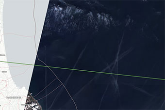 卫星图片展示日本搜索失事F35战机过程