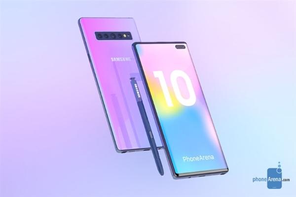 三星Galaxy Note 10四大型号曝光:两款支持5G网络