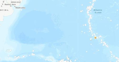 南大西洋中脊海域发生5.0级地震 震源深度10公里