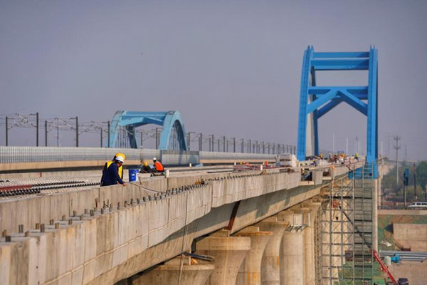京雄城际铁路北京段具备铺轨条件
