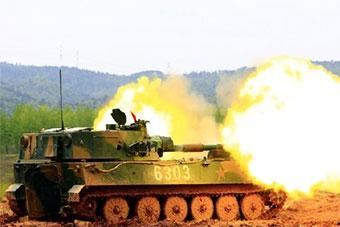 炮兵部队实弹射击锤炼近距离实战打击能力