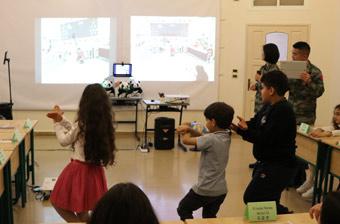 我赴黎维和部队为中黎两国学校搭建跨国交流舞台