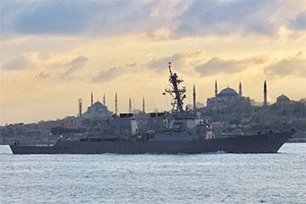 """一箭双雕?美国宙斯盾舰进入黑海""""自由巡航"""""""