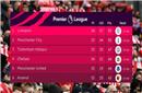 英超积分榜:曼城紧追利物浦 切尔西领先曼联排第4