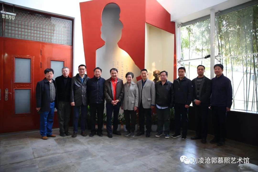 北京画院王明明一行到刘凌沧郭慕熙艺术馆调研参观