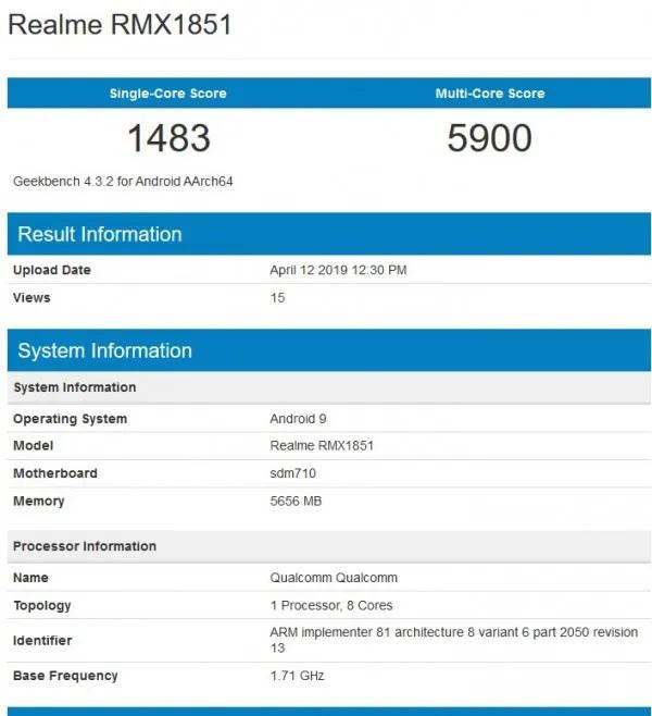 Realme 3 Pro蓝牙认证/基准测试/低光拍照样张曝光