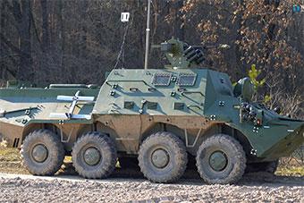 乌克兰研发高科技战场指挥车 造型略奇葩