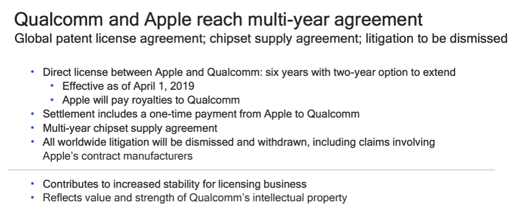 专利战结束 高通将为苹果提供5G芯片