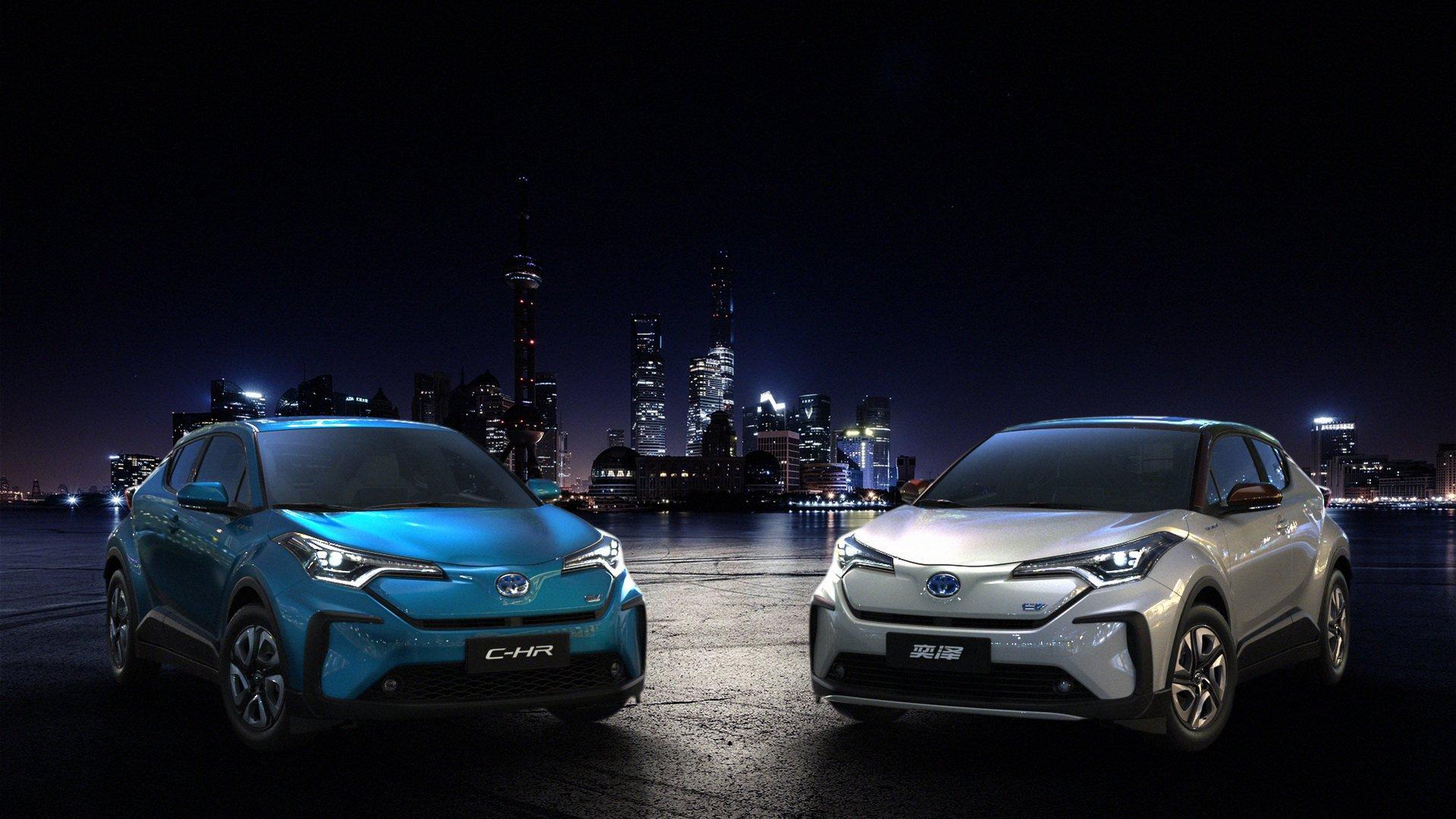 丰田纯电动汽车C-HR亮相上海 具体参数尚未公布