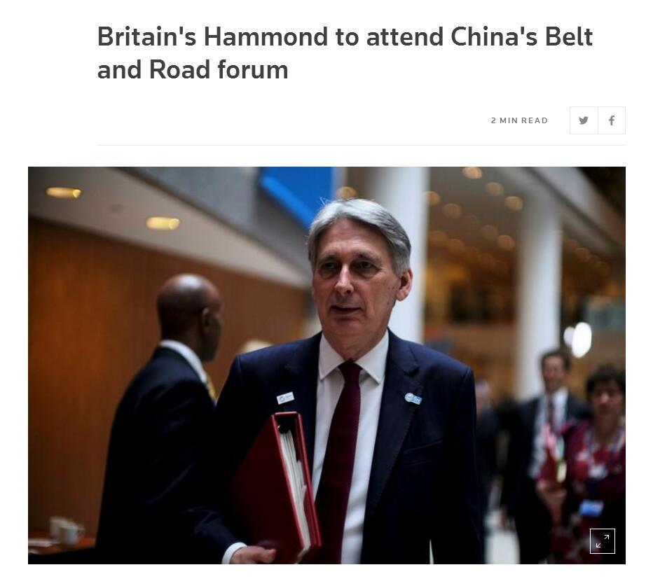 """英国财政大臣要来华参加""""一带一路""""峰会"""