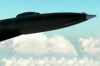 高超音速飞行器模拟动画曝光 造型酷似SR71