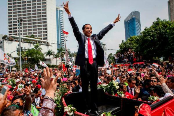 印尼现任总统佐科·维多多宣布:赢得连任