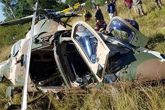 南非军队一架直升机坠毁 2机组成员死里逃生