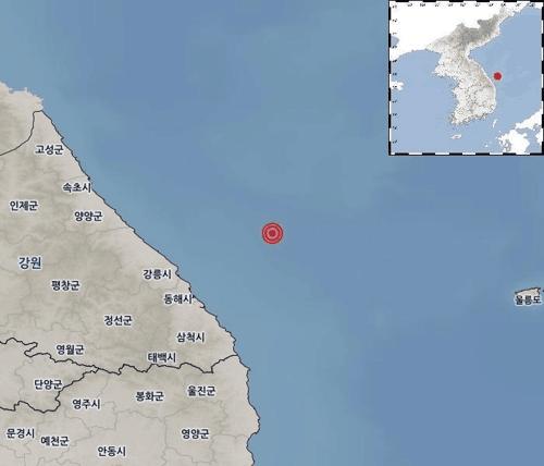 韩江原道近海发生4.3级地震 居民无伤亡但有震感