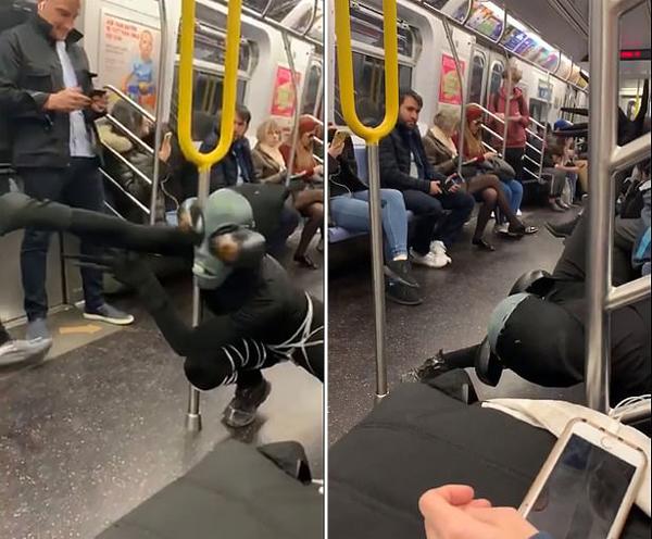 """""""外星人""""空降纽约地铁 通勤者表现十分淡漠"""
