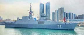 第一艘为海军庆生的外国军舰抵达青岛