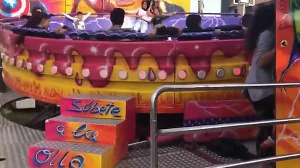 西班牙一女孩乘坐迪斯科转盘被甩出撞到墙上