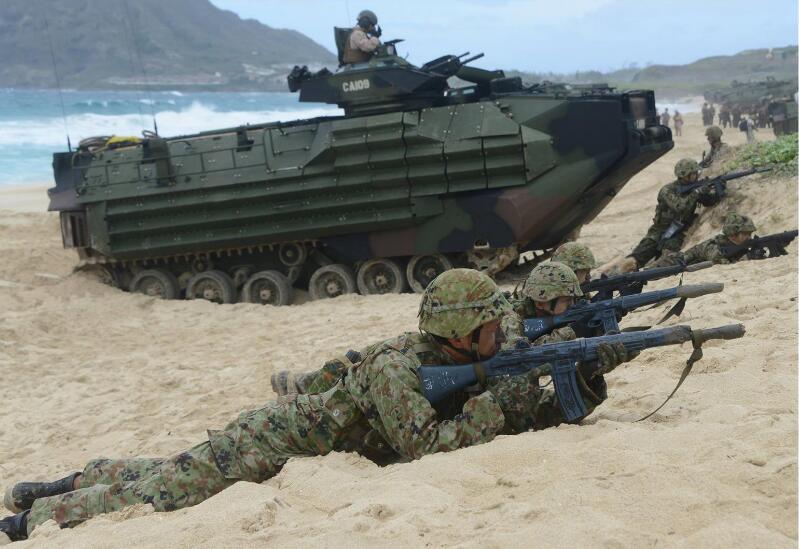日媒:日本水陆机动团将搭乘出云号前往南海